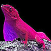 Pink hungry lizard slide puzzle