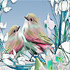 Pink sparrows slide puzzle