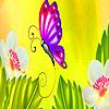 Pretty butterflies in garden puzzle
