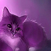 Purple fantastic cat puzzle