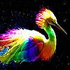 Rainbow heron slide puzzle
