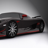 Red and black extreme car