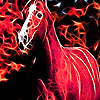 Red flame horse puzzle