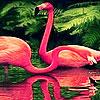 Red ocean flamingos puzzle