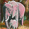 Red tired elephants slide puzzle