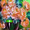 Summer garden roses puzzle