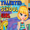 Talented School Girl