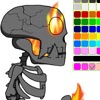 TAOFEWA – Fire Skeleton Animation Coloring Game