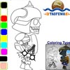 TAOFEWA - Skeleton Warrior - Coloring Game (walk02)