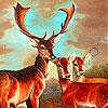Three brown deer family slide puzzle