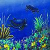 Turtles in the ocean slide puzzle