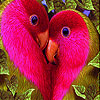 Two lovebirds slide puzzle
