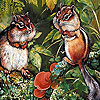 Two naughty squirrels slide puzzle