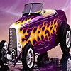 Violet fire car slide puzzle