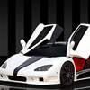 White super car turbo racing