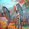 Zebra family in the desert puzzle